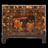 Antieke Chinese Kast Handgeschilderd B86xD40xH75cm
