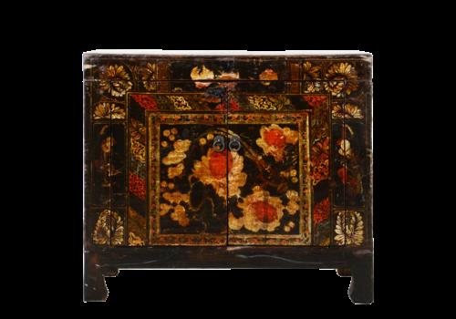 Fine Asianliving Antiker Chinesischer Schrank Handgemalt B85xT40xH74cm