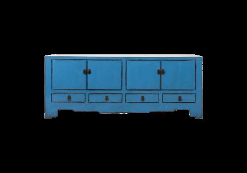 Fine Asianliving Antieke Chinese TV Kast Blauw Glossy B155xD39xH63cm