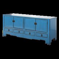 Antieke Chinese TV Kast Blauw Glossy B155xD39xH63cm