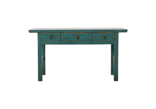 Fine Asianliving Antieke Chinese Sidetable Blauw Glossy B162xD47xH88cm