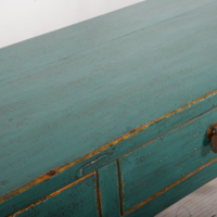 Antieke Chinese Sidetable Blauw Glossy B162xD47xH88cm