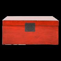 Antieke Chinese Kist Rood Glossy B92xD53xH41cm