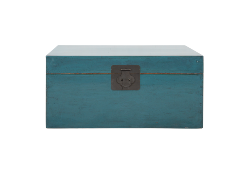 Fine Asianliving Antique Chinese Chest Blue Glossy W90xD54xH45cm