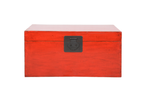 Fine Asianliving Antique Chinese Chest Red Glossy W88xD52xH43cm