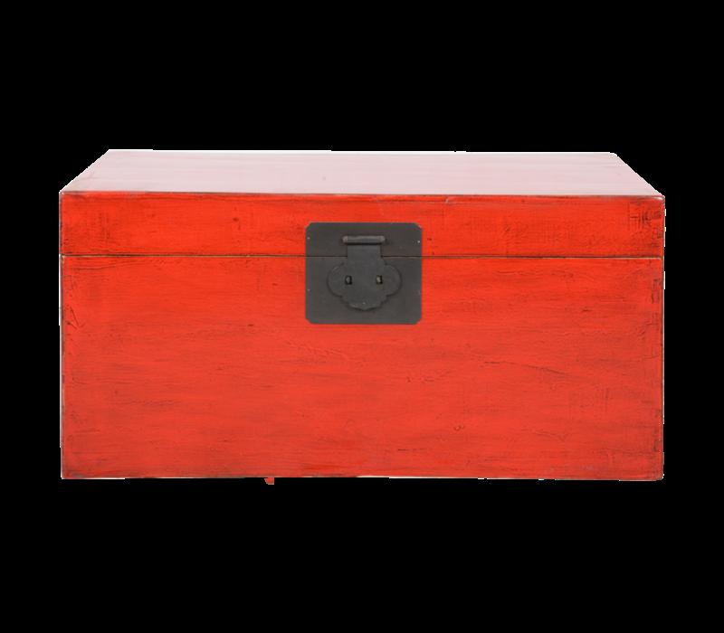 Antieke Chinese Kist Rood Glossy B88xD52xH43cm
