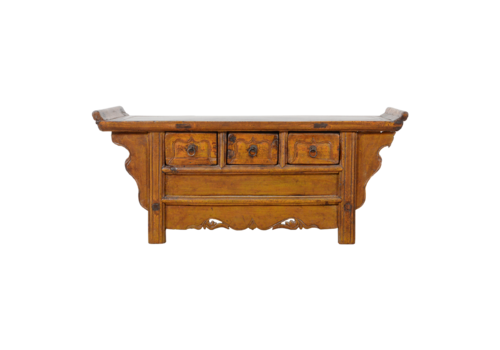Fine Asianliving Antique Chinese Cabinet Handcarved W107xD41xH47cm