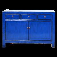 Antieke Chinese Dressoir Navy Blauw Glossy B130xD39xH91cm