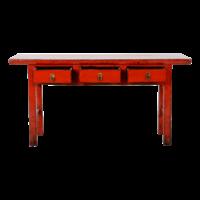 Antieke Chinese Sidetable Rood Glossy B165xD40xH84cm