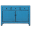 Fine Asianliving Antique Chinese Sideboard Blue Glossy W130xD40xH90