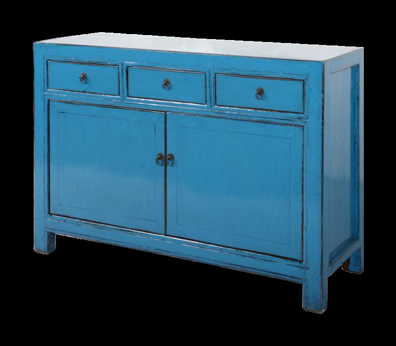 Antieke Chinese Dressoir Blauw Glossy B130xD40xH90