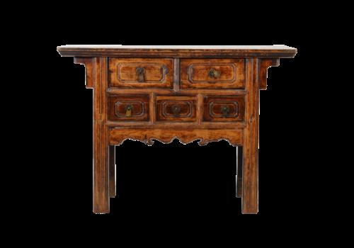 Fine Asianliving Antiker Chinesischer Konsolentisch Handgeschnitzt B119xT35xH85cm