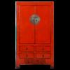 Fine Asianliving Antieke Chinese Bruidskast Rood Glossy B104xD50xH186cm