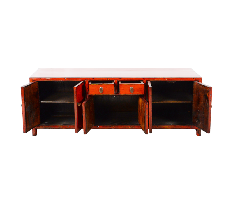 Chinese TV Cabinet Red Glossy W150xD38xH55cm