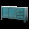 Fine Asianliving Antieke Chinese Dressoir Blauw Glossy B150xD40xH90cm
