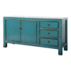 Fine Asianliving Antique Chinese Sideboard Blue Glossy W150xD40xH90cm