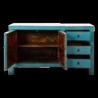 Antieke Chinese Dressoir Blauw Glossy B150xD40xH90cm