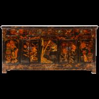 Antieke Chinese Dressoir Zwart Handgeschilderd B179xD46xH86cm