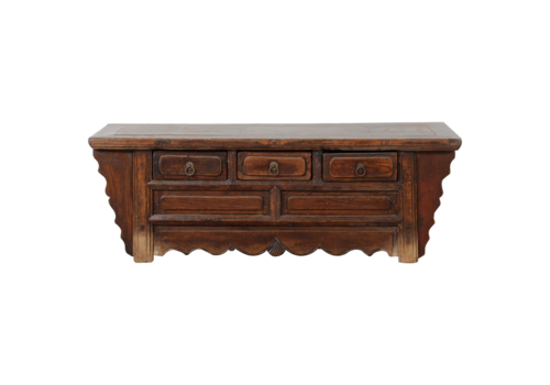 Fine Asianliving Antique Chinese Cabinet Handcarved W110xD40xH38cm