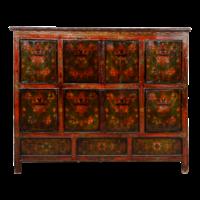 Antieke Tibetaanse Kast Handgemaakt B143xD47xH119cm