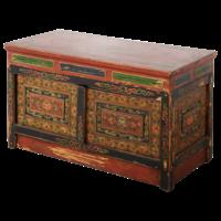 Antieke Tibetaanse Kast Handgemaakt Traditioneel B88xD40xH52cm
