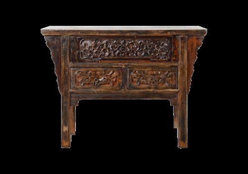 Fine Asianliving Antiker Chinesischer Konsolentisch Handgeschnitzt B120xT48xH86cm