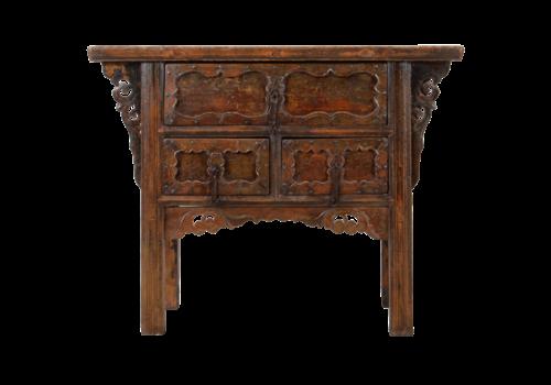 Fine Asianliving Antiker Chinesischer Konsolentisch Handgeschnitzt B106xT48xH85cm