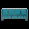 Fine Asianliving Antieke Chinese TV Kast Blauw Glossy B135xD39xH60cm