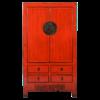 Fine Asianliving Antieke Chinese Bruidskast Rood Glossy +/- B103x49xH186cm