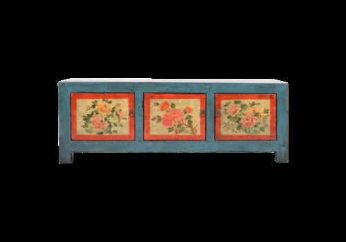 Fine Asianliving Antiker Chinesischer Schrank Handgemalt B153xT41xH56cm