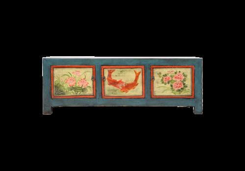 Fine Asianliving Antiker Chinesischer Schrank Handgemalt B153xT41xH55cm