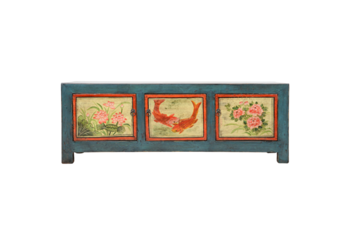 Fine Asianliving Antique Chinese Cabinet Handpainted W153xD41xH55cm