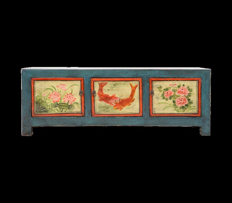 Antieke Chinese Kast Handgeschilderd B153xD41xH55cm