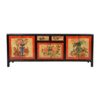 Fine Asianliving Antieke Chinese Kast Handgeschilderd B145xD38xH57cm