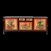 Antieke Chinese Kast Handgeschilderd B145xD38xH57cm