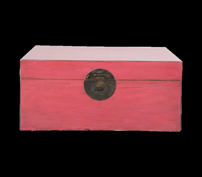 Antieke Chinese Kist Roos Roze B93xD60xH43