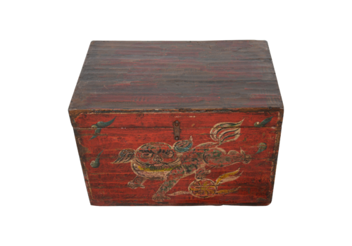Fine Asianliving Antique Chinese Box Handpainted Chinese Myth