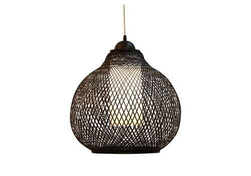 Fine Asianliving Bamboe Webbing Hanglamp Zwart Robinson D41xH35cm