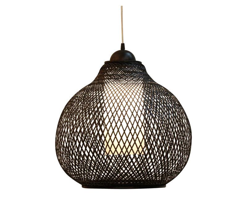 Bamboe Webbing Hanglamp Zwart Robinson D41xH35cm