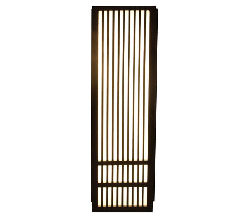 Japanse Wandlamp Shoji Zwart Kazuno B8xD15xH50cm