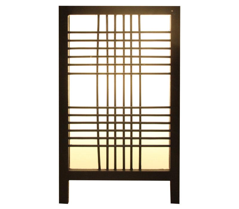 Japanse Lamp Shoji Zwart Ishikari B15xD15xH25cm