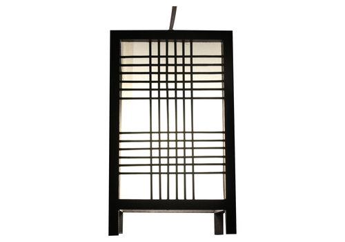 Fine Asianliving Japanese Lamp Shoji Black Ushiku W15xD15xH25cm