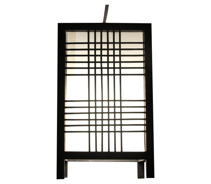 Japanse Lamp Shoji Zwart Ushiku B15xD15xH25cm