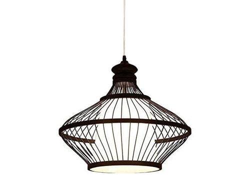 Fine Asianliving Bamboe Hanglamp Zwart Oliver D46xH40cm