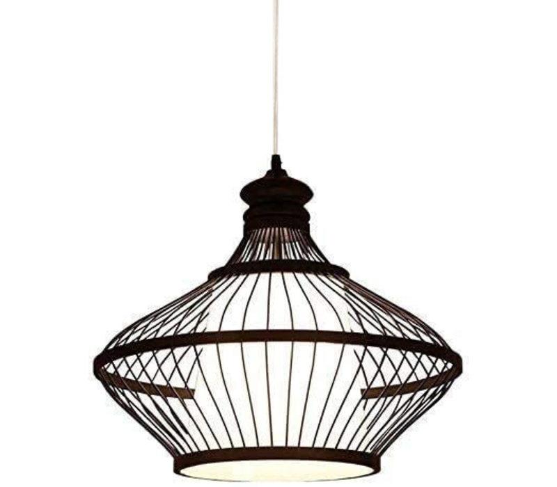 Bamboe Hanglamp Zwart Oliver D46xH40cm