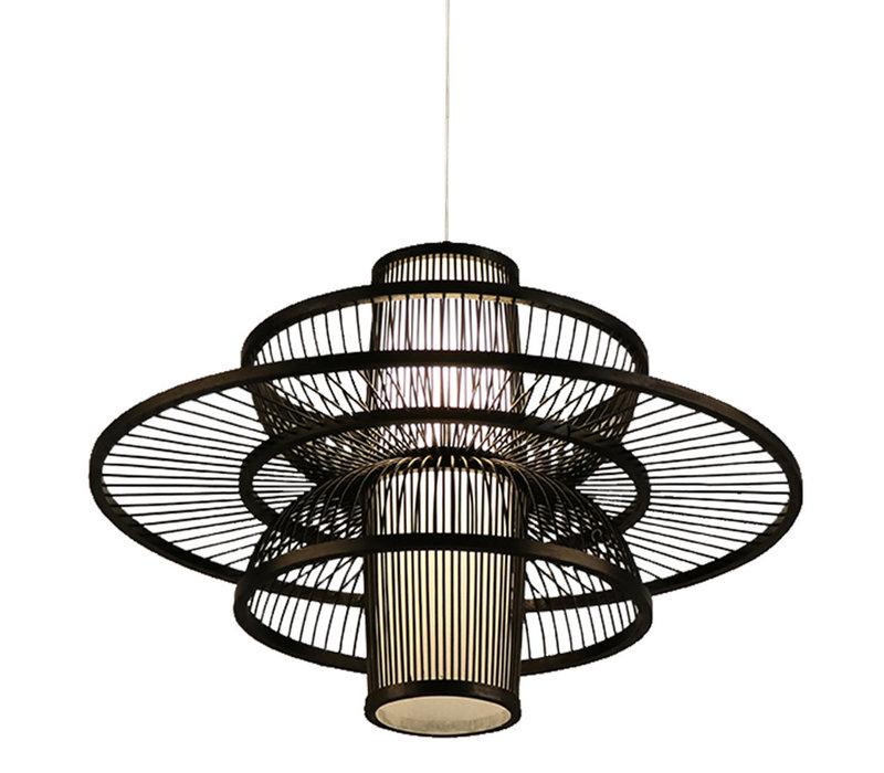 Bamboe Hanglamp Zwart Handgemaakt - Nicholas