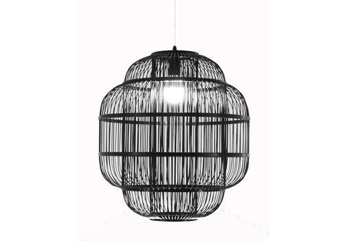 Fine Asianliving Bamboe Hanglamp Handgemaakt Zwart - Ethan