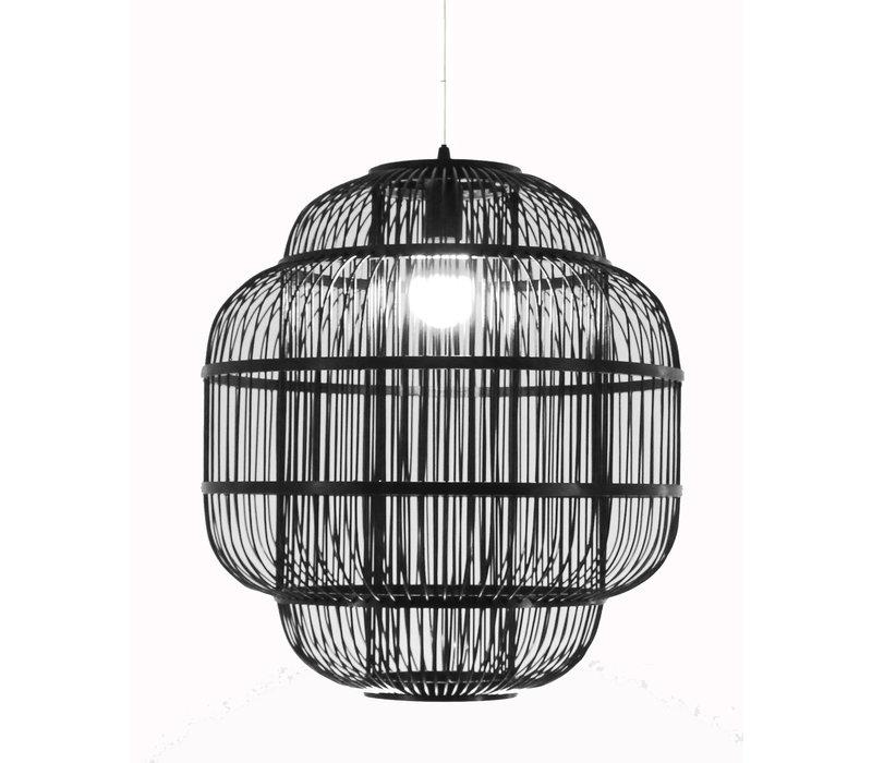 Bamboe Hanglamp Handgemaakt Zwart - Ethan