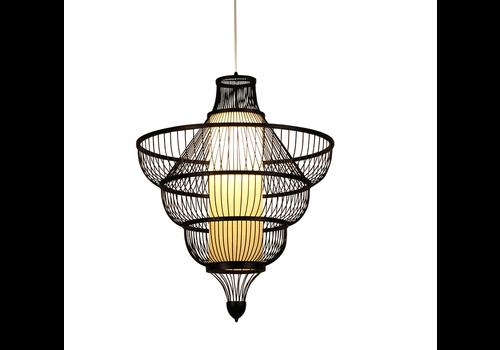 Fine Asianliving Bamboe Hanglamp Handgemaakt Zwart - Jessie D50xH50cm