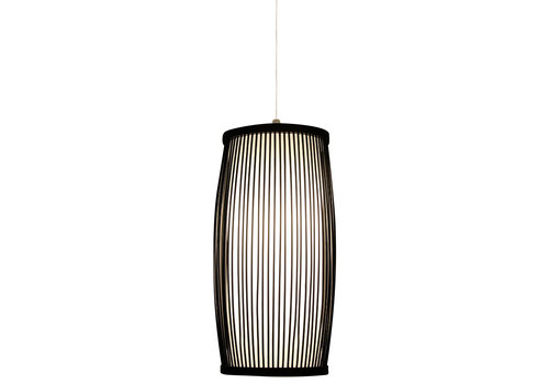 Fine Asianliving Bamboe Hanglamp Zwart Elliot D18xH33cm